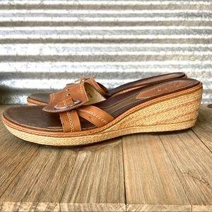 Clark's Leather Wedge Slide